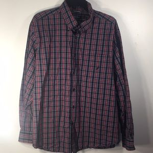 Men's Button Front Nautica  Shirt Size Large